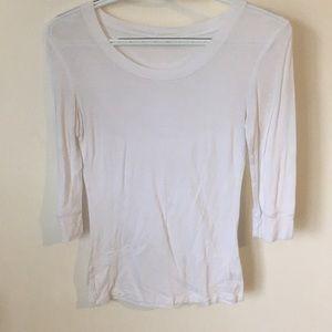 Wide-Neck White Shirt